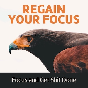 7-day email course to regain and improve your focus. Without focus you are lost.
