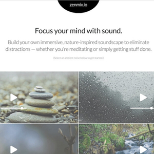 Ambient Sound Generator to help you focus during meditation or productivity sessions.